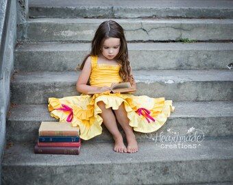 Belle - Everyday Princess Dress - Character Inspired Dress - 6/12mo through 9/10