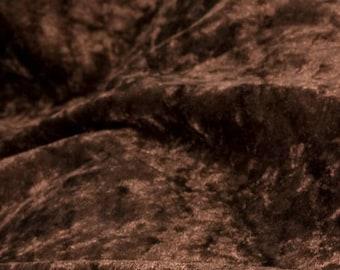 50 x 35 cm Brown crushed velvet