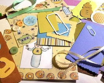 Feeding Baby Themed Inspiration Kit (Collage/Crafting Pack/Paper Ephemera/Junk Journal/Embellishments/Pocket Letter/Pen Pal/Scrapbooking)