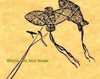 Japanese Kites Rubber Stamp