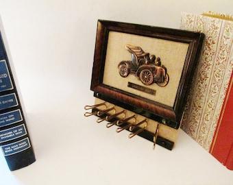 Retro Necktie Holder, Vintage Cadillac 1907, Father's Day Gift, Belt Holder, Mad Men Decor, Neck Tie Holder