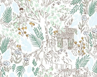 PRE-ORDER - Peter Pan by Sarah Jane - The Little House in Fern - FREE Charm Pack with Pre-Order*  100% Cotton DC7939
