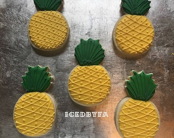 Pineapples Sugar cookies
