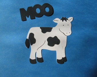 cow diecut with saying