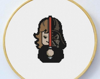 DARTH VADER Cross Stitch Pattern - Instant Download Pdf