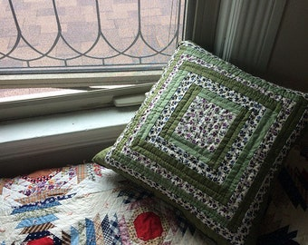 Green Cottage Pillow