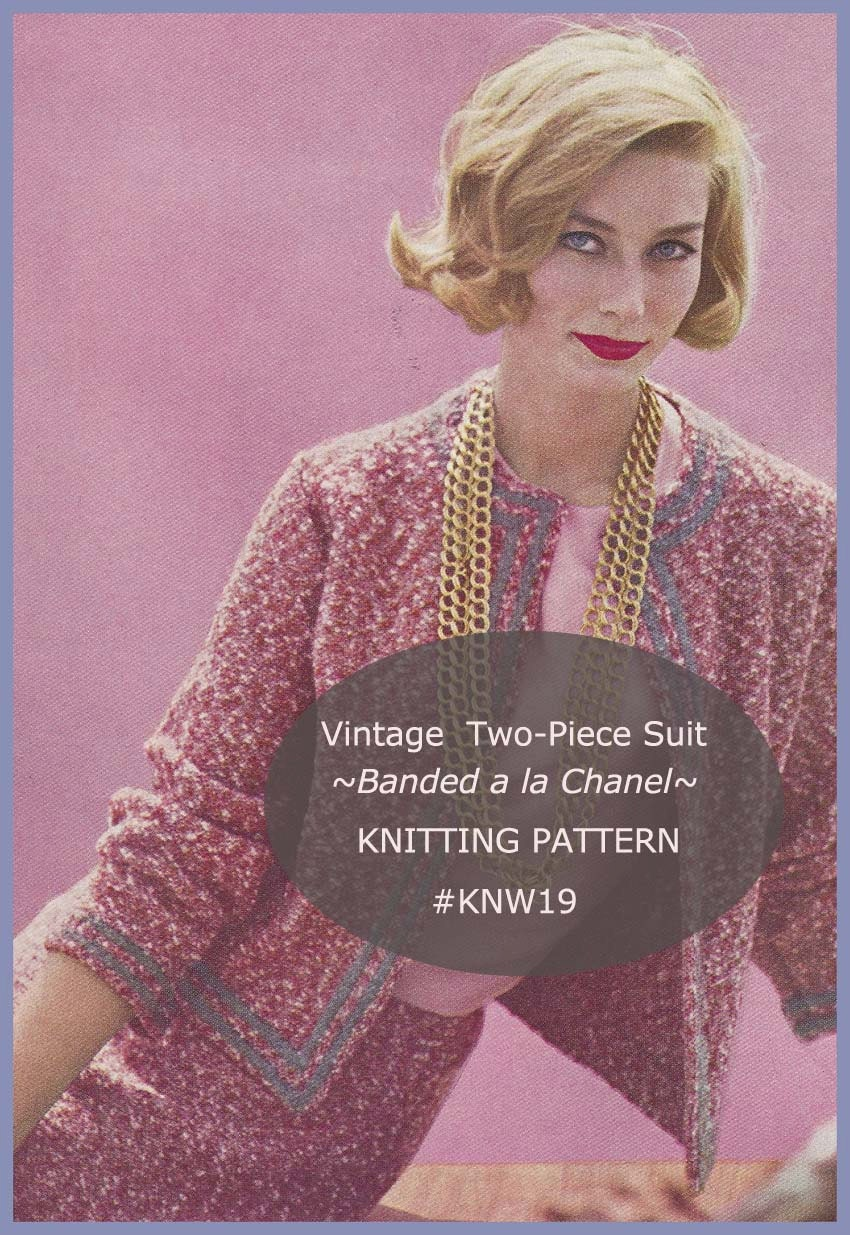 Chanel Inspired Suit Ladies Chanel Design Suit Knitting