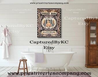 Bath Room Wall Art Wall Canvas Art Wall Art Print Canvas Art Canvas Decor Powder Room Wall Art