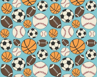 Vintage look Sports flannel by Fancey Pants  - 1/2 yard