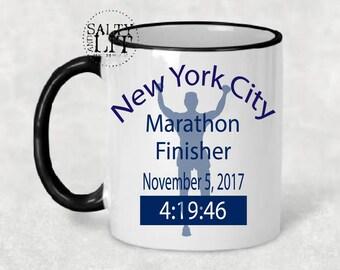 male marathon runner,New York Marathon, Runners Coffee Mug, Marathon Mug, 26.2 Oh Yes I Did, Athletic Mug,custom marathon mug