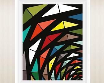 Modern Art, Triangles Art, Geometric Art Print