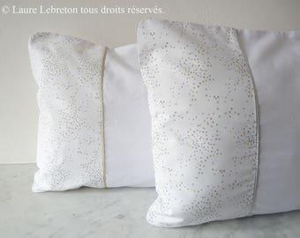 Cover of Pillow (pillow) - Gold 1/3 - handmade - decor / accessories-stars