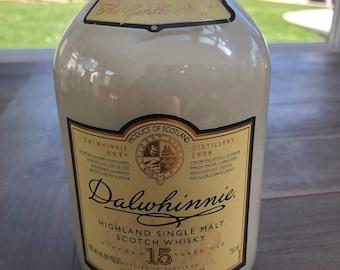 Upcycled Liquor Bottle Candle - Scotch Whisky Label