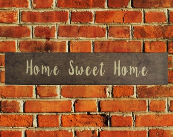 Home Sweet Home, Wedding Wood Sign,  Home Decor, 5th Anniversary Gift Wood Sign,