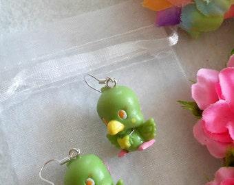 Pair of Parrot Earrings