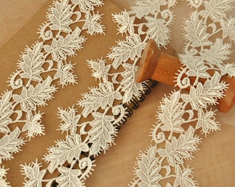 15 yards ivory venice lace trim for bridal veils, jewelry supplies