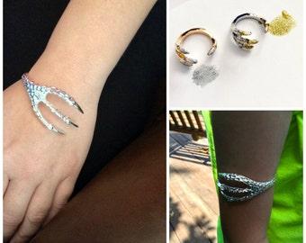 Silver Dragon Claw Bracelet Custom Painted Talon Claw Jewelry for Him or Her Men's Bracelet Women's Bracelet Unisex Statement Jewelry