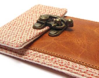 iPhone 6 / 7 / 7 Plus wallet  - orange and cream