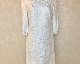 Mod Silver Shift Dress