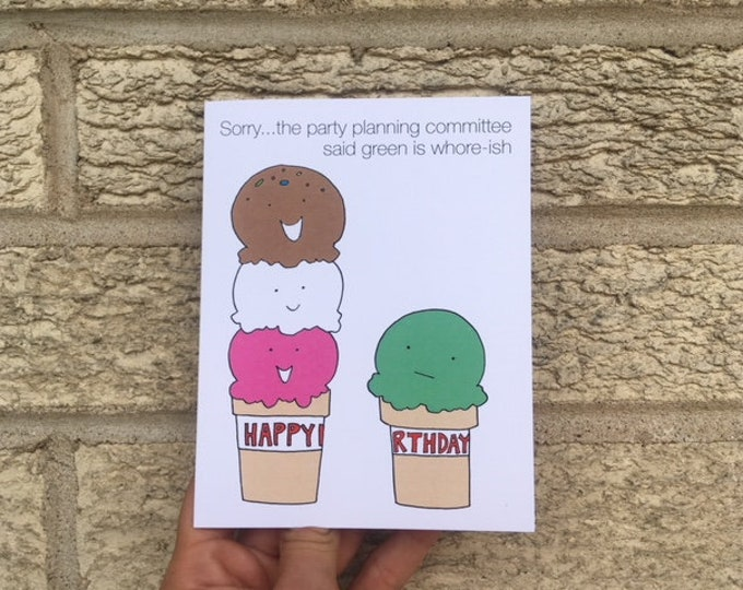 The Office Birthday Card, Funny Birthday Card, Party Planning Committee, Michael Scott Card, Dwight Schrute Card, Jim Pam Card, Ice Cream