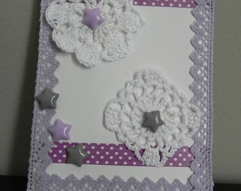 Small canvas purple and white put stick, to offer...