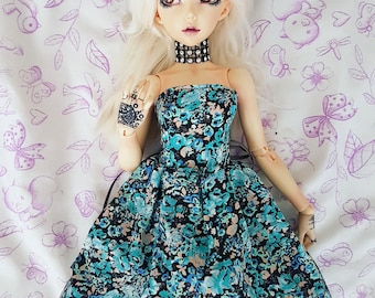 Minifee / 1:4 BJD - Floral mixed colored dress