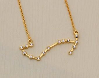 SALE 20% OFF - Scorpio Necklace - Zodiac Necklace - Zodiac Signs - Scorpio Necklace - Constellation Necklace with Stone -  Bridesmaid Gifts