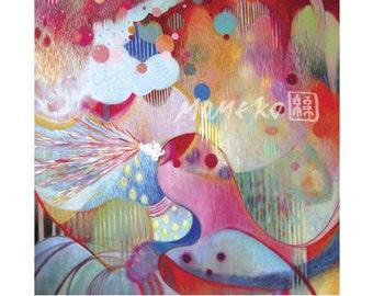Prelude- 8.5 x 11 beautiful and gorgeous fine art print- Healing art, spiritual art print, abstract painting, yoga art, energy art print