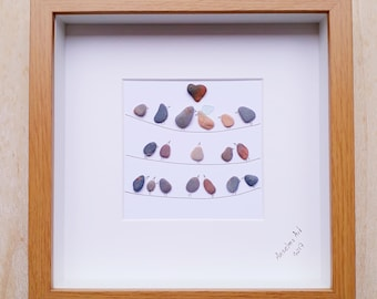 Wedding gift, Wedding pebble art frame, Pebble Art, Pebble picture, Personalised wedding gift, Mr and Mrs frame, Bride and groom pebble art