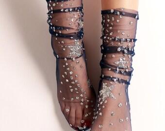 Galaxy Tulle Socks