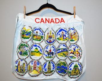 Vintage Canada Souvenir Half Apron