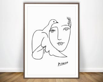 Minimal wall art etsy for Minimal art vzla