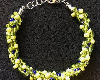 Spring Mix Kumihimo Beaded Bracelet