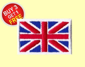 UK Flag Patches Iron On Embroidered Patches Embroidered Applique