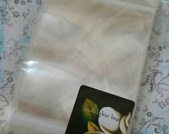 QTY 100 Ultra Clear Bags - Acid and Lignin Free - 4 inch x 4 inch plus Hanging Tab