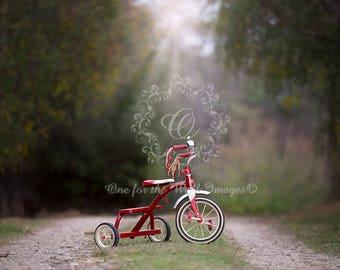 Red Trike Digital Background backdrop