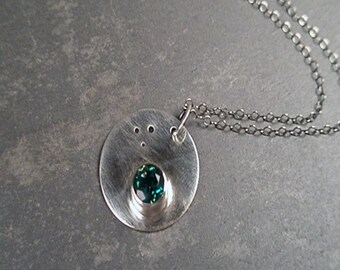 Jennie Necklace - Rainbow Topaz and Sterling Silver