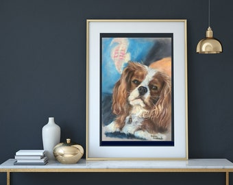 Custom Made To Order Pet Portrait Pastel Painting Art
