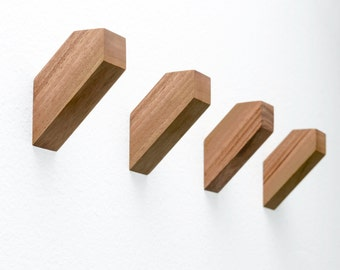 Set of 4 Modern Wall Hooks - High Quality Decor - Geometric wall hooks