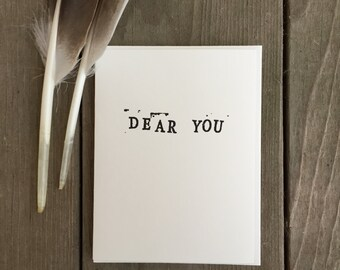 Dear You: Blank Cards from the Dear You Letter Writing Project