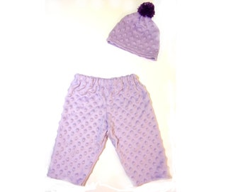 Purple Minky Baby Set