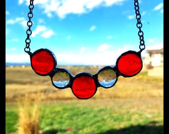 Stained Glass Drops Necklace
