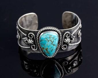 Kingman Turquoise Sterling Silver Cuff Bracelet