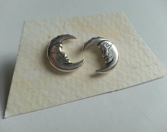 Siver Moon Earrings