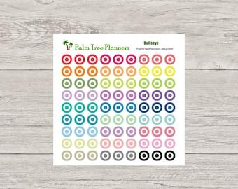 Bullseye Planner Stickers for Erin Condren Planner