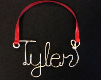 wire word ornament,Christmas Personalized Ornament,Tyler ornament,Holiday gift,Christmas gift,Christmas ornament