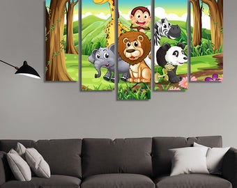 Cartoon Wall Art, Childrens Wall Décor, Childrens Wall Art, Kids Wall Art,