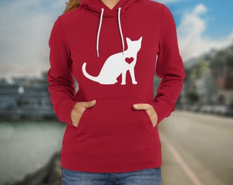 Cat Hoodie / Kitten Hoodie / Gift for Cat Lover / Cat Gift / Kitty Cat Lover / Cat Clothing / Cat Birthday Party / Crazy Cat / Cat Sweater