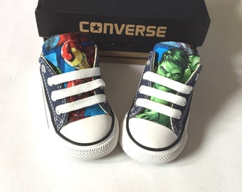 Avengers Marvel Comics Shoes, Converse Avengers Shoes, Kids Iron Man Shoes, Hulk Shoes, Thor Shoes, Black Widow, Hawk, captain america