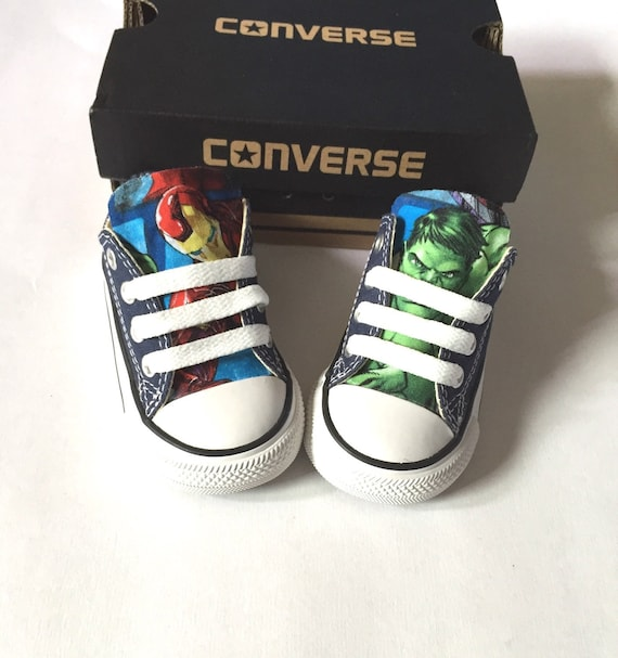 Avengers Marvel Comics Shoes Converse Avengers Shoes Kids Iron Man Shoes Hulk Shoes Thor Shoes